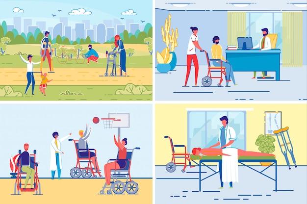 Actieve handicap of gehandicapte levensstijl.