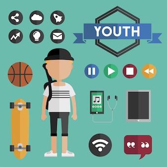 Actieve levensstijl voor jonge kinderen