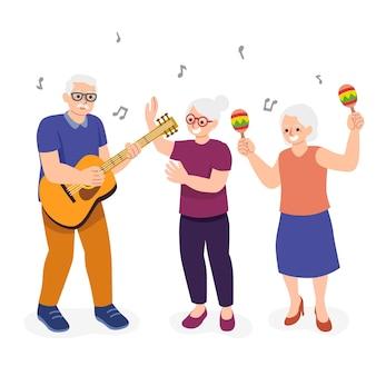 Actieve ouderen concept
