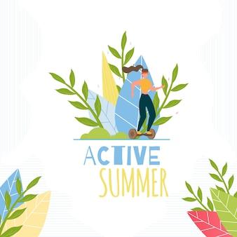 Actieve zomerinspiratie tekst