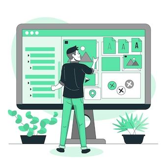 Activa selectie concept illustratie