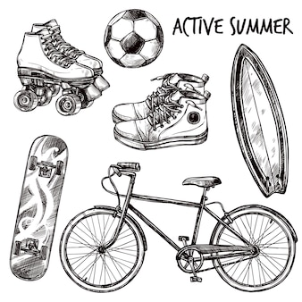 Active recreation sketch set
