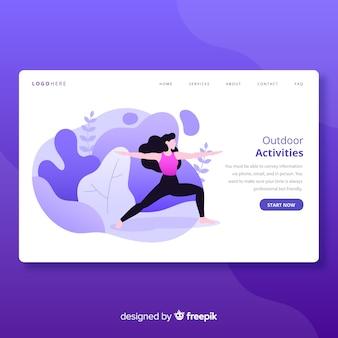 Activiteitenpagina voor buitenactiviteiten