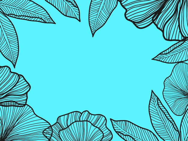 Actuele bladeren achtergrond. minimaal ontwerp met abstracte bladomtrekart