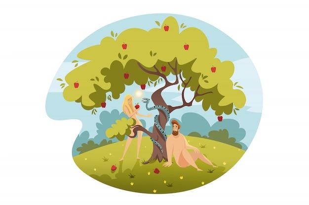 Adam en eva, erfzonde, bijbelconcept