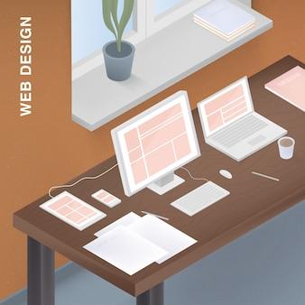 Adaptief webdesign voor verschillende apparaten.