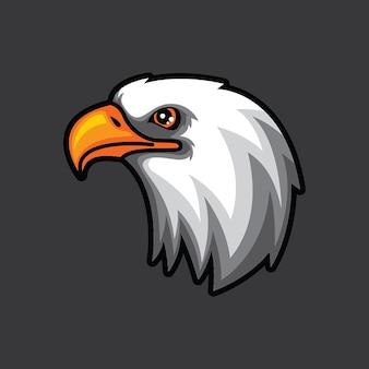 Adelaar hoofd logo sjabloon