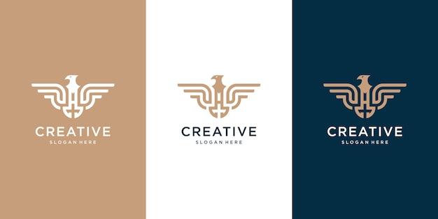 Adelaar logo collectie sjabloon