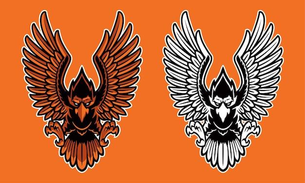 Adelaar mascotte logo
