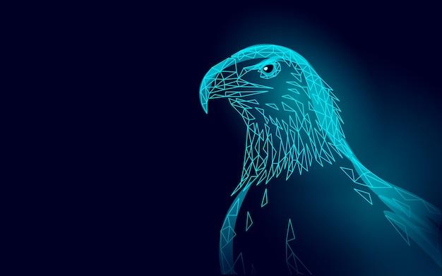 Adelaar zittend vogel profiel. amerikaans nationaal symbool.