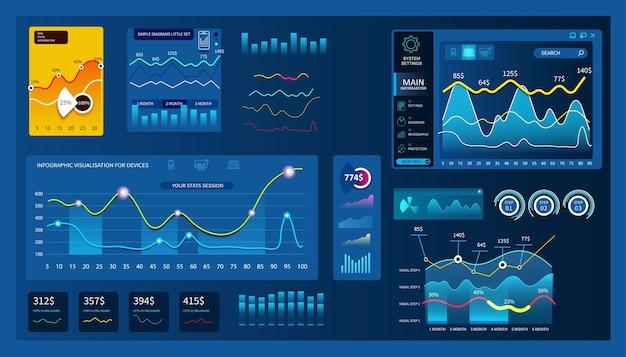 Admin dashboard paneel illustratie