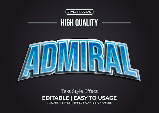 Admiraal tekststijl