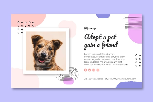 Adopteer een banner voor huisdieren