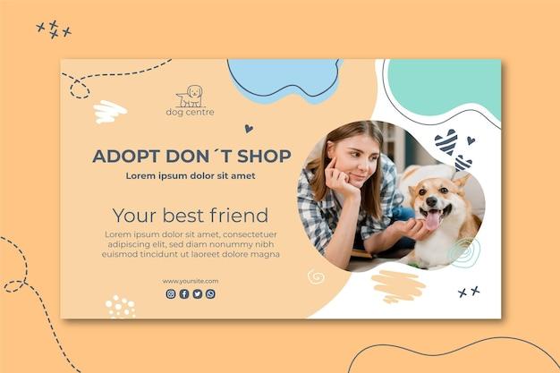 Adopteer een bannermalplaatje voor huisdieren