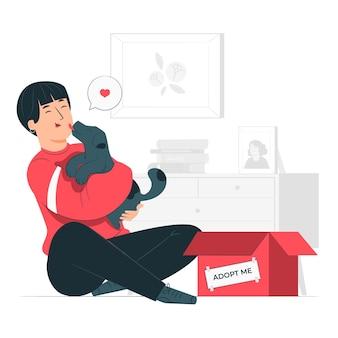 Adopteer een huisdier concept illustratie