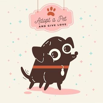 Adopteer een huisdier illustratie met hond