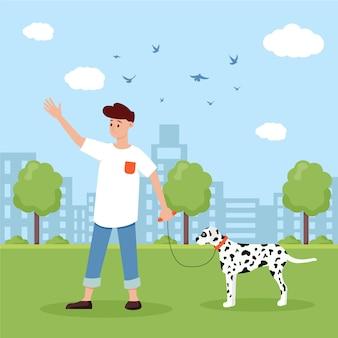 Adopteer een huisdier illustratie