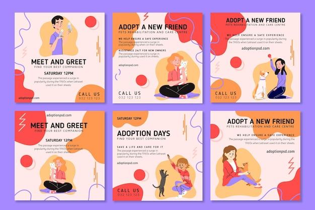 Adopteer een huisdier instagram-berichten