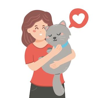 Adopteer een huisdier plat ontwerp