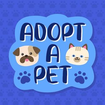 Adopteer een huisdier van shelter letters