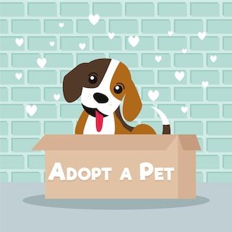 Adopteer een huisdierconcept met hond