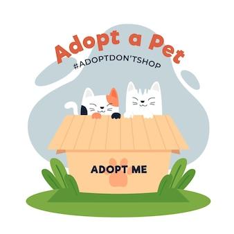 Adopteer een huisdierconcept