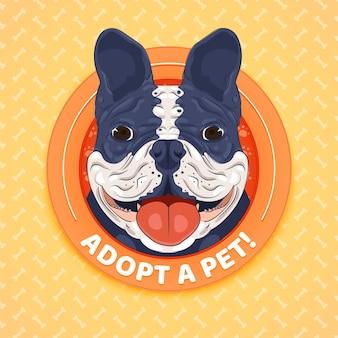 Adopteer een huisdierillustratiethema