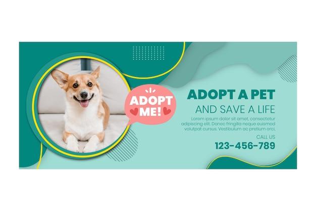 Adopteer een sjabloon voor een huisdierbanner
