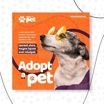 Adopteer een sjabloon voor een huisdierenvlieger