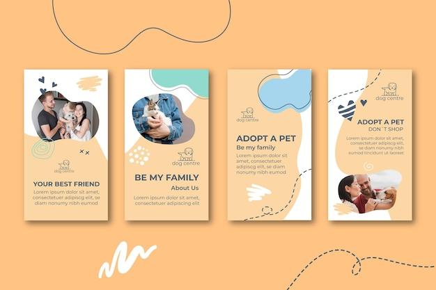 Adopteer een verzameling huisdieren instagramverhalen