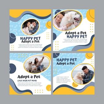 Adopteer een verzameling instagram-berichten voor huisdieren pet
