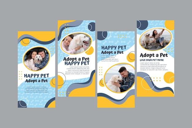 Adopteer een verzameling instagramverhalen voor huisdieren