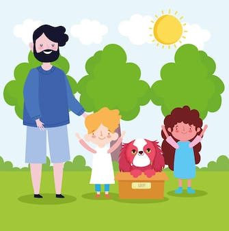 Adoptie gezinshond