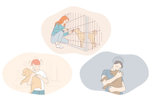 Adoptiehonden uit opvang, vrijwilligerswerk en het helpen van huisdieren.