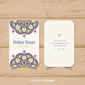 Adreskaartje in mandalastijl