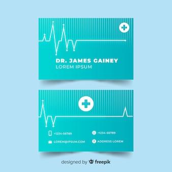 Adreskaartje in medische stijl