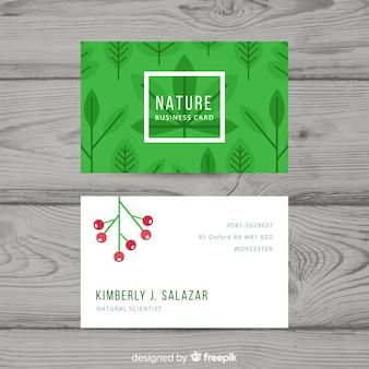 Adreskaartje met aard of ecoconcept