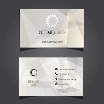 Adreskaartje met een geometrisch ontwerp