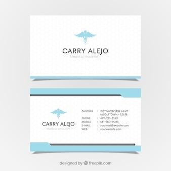 Adreskaartje met medisch concept in moderne stijl