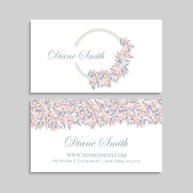 Adreskaartje met mooie bloemen