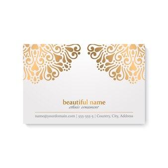 Adreskaartje van luxe het sier gouden mandala