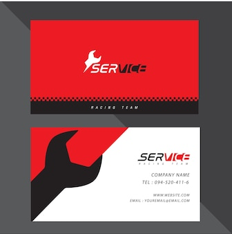 Adreskaartje vectorontwerp en rennende sport.