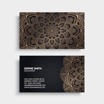 Adreskaartje vintage decoratieve elementen ornamentele bloemen visitekaartjes oosters patroon vectorillustratie