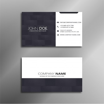 Adreskaartje wit en zwart ontwerp