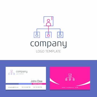 Adreskaartjeontwerp met de vector van het bedrijfsembleemontwerp