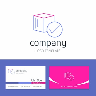 Adreskaartjeontwerp met het embleemvector van het pijlenbedrijf