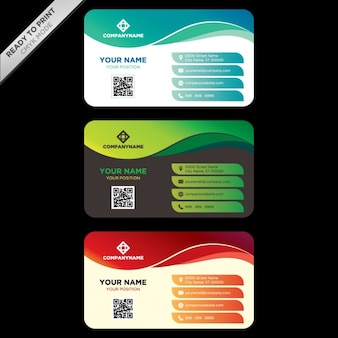 Adreskaartjessjabloon ontwerp
