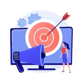 Adresseerbare tv-reclame abstracte concept illustratie