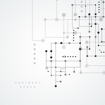 Adstract geometrisch lijnen en puntenpatroon. moderne netwerktechnologie achtergrond