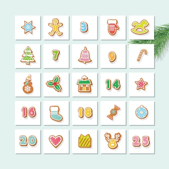 Advent kalender. aftellen tot kerstmis.